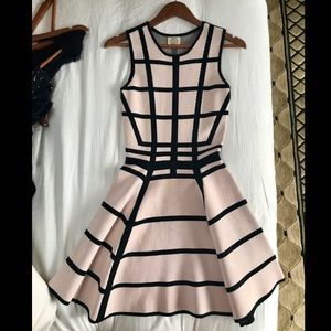 Ronny Kobo Fit and Flare dress Grid Pattern